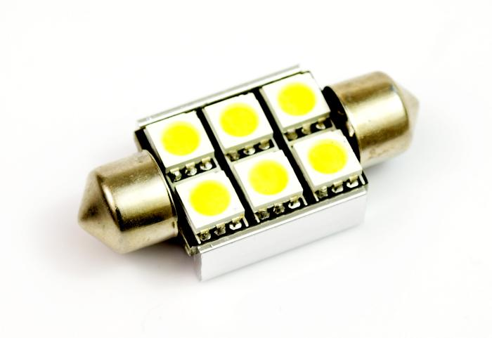 Interlook LED auto žárovka LED C5W 6 SMD 5050 CAN BUS 36mm